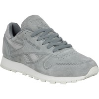Chaussures Femme Baskets basses Reebok Sport Classic Leather Shimmer velours Femme Gris Gris