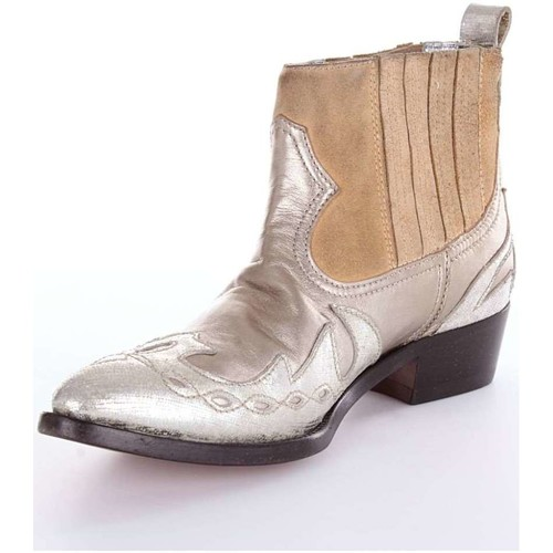 Golden Goose Deluxe Brand G30WS698 Boot Femme Argent Argent - Chaussures Bottine Femme