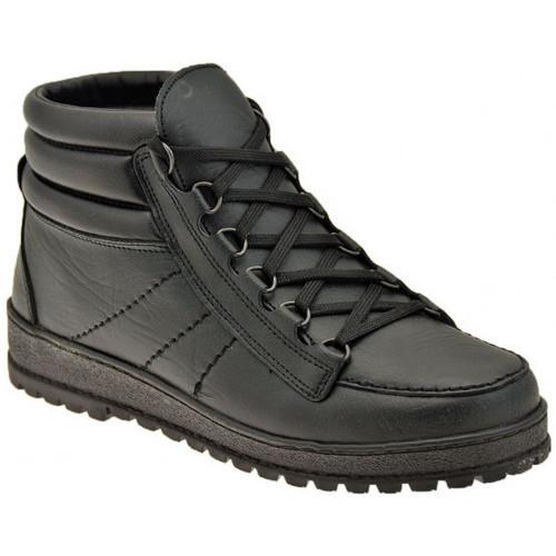 Chaussures Homme Baskets montantes Alisport Rapide à mi laçage Baskets montantes Noir