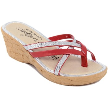 Chaussures Femme Tongs Summery  Rosso