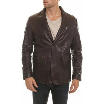 Vêtements Homme Vestes en cuir / synthétiques Daytona PARIS SHEEP AOSTA REDDISH BROWN ZZ Marron foncé