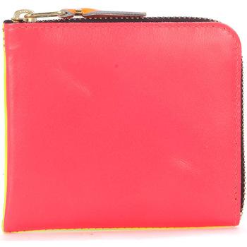 Sacs Portefeuilles Comme Des Garcons Portefeuille  en peau rose et jaune fluo Multicolor