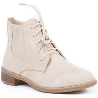 Chaussures Femme Bottines Pomme Passion Bottines style chelsea effet daim Mandy Beige