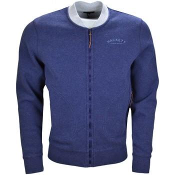Vêtements Homme Sweats Hackett Veste sweat zippée  bleu marine pour homme Bleu