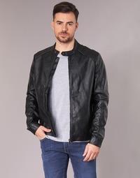 Vêtements Homme Vestes en cuir / synthétiques Yurban IMIMID Noir