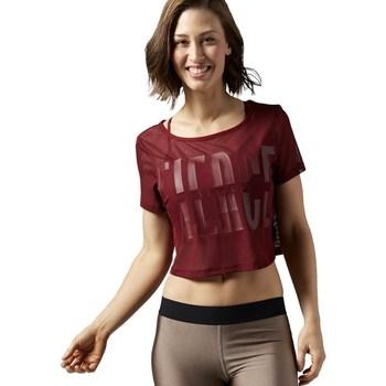 Vêtements Femme T-shirts manches courtes Reebok Sport Cardio Mesh Tee Bordeaux