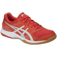 Chaussures Homme Baskets basses Asics Gel Rocket 8 0693 Blanc-Rouge-Gris