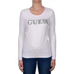 Vêtements Femme T-shirts manches longues Guess T-Shirt Femme Stones Blanc 1