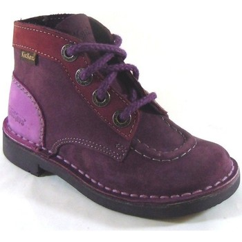 Chaussures Fille Baskets montantes Kickers Kick Col Violet