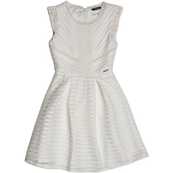 Vêtements Fille Robes Guess Robe Fille Marciano Ajourée Blanc Blanc
