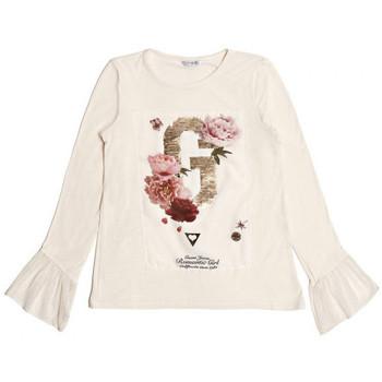 Vêtements Fille T-shirts manches longues Guess T Shirt Manches Volantées Blanc 1