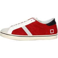 Chaussures Homme Baskets basses Date D.a.t.e. E18-44 Petite Sneakers Homme Blanc/Rouge Blanc/Rouge