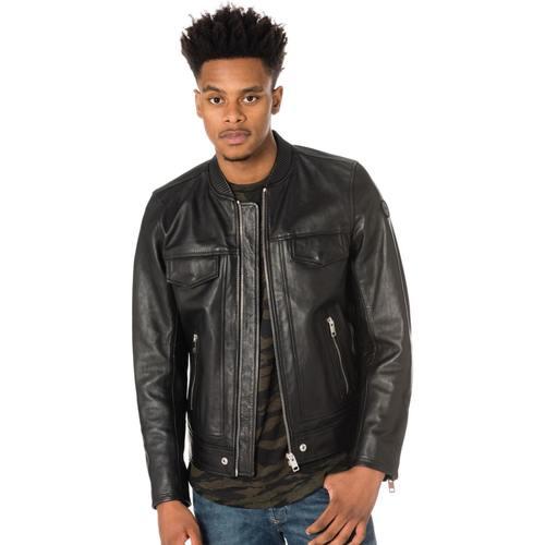 Vêtements Homme Vestes en cuir / synthétiques Diesel L-LANDING 900 Noir