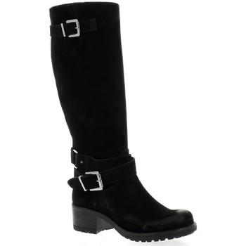 Chaussures Femme Bottes Pao Bottes cuir velours Noir