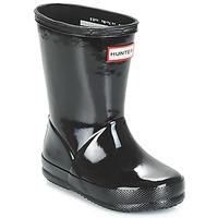 Chaussures Enfant Bottes de pluie Hunter KIDS FIRST CLASSIC GLOSS Noir