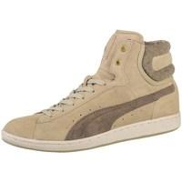 Chaussures Femme Baskets montantes Puma Cross Shot Winter Wns Blanc-Beige-Marron