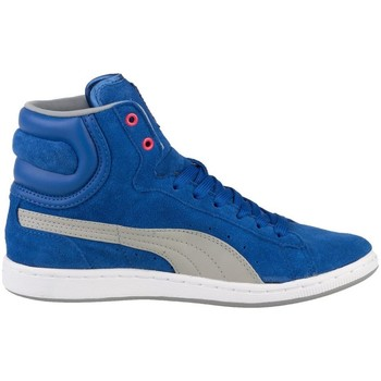 Chaussures Femme Baskets montantes Puma Cross Shot Wns Blanc-Gris-Bleu