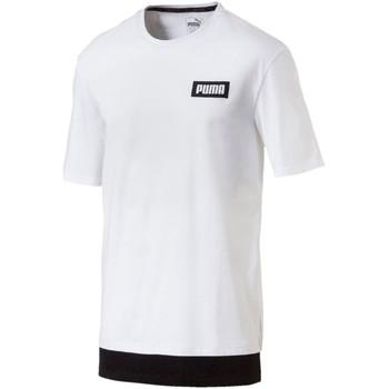 Vêtements Homme T-shirts manches courtes Puma T-shirt  T-shirt Fd Rebel blanc