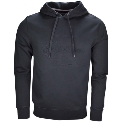 f8b38653605 Vêtements Homme Sweats Calvin Klein Jeans Sweat à capuche noir pour homme  Noir