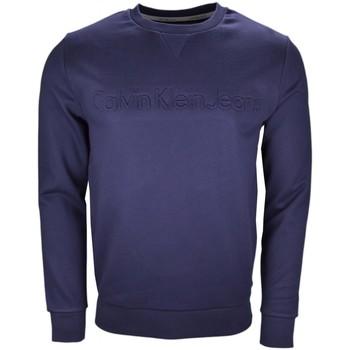 Vêtements Homme Sweats Calvin Klein Jeans Sweat col rond  bleu marine pour homme Bleu