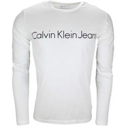 Vêtements Homme T-shirts manches longues Calvin Klein Jeans T-shirt manches longues  blanc pour homme Blanc