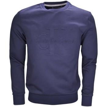 Vêtements Homme Sweats Calvin Klein Jeans Sweat col rond  bleu marine Logo relief pour homme Bleu