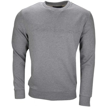 Vêtements Homme Sweats Calvin Klein Jeans Sweat  gris inscription relief pour homme Gris