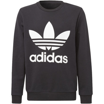 Vêtements Enfant Sweats adidas Originals Sweat-shirt Trefoil Crew Noir / Blanc