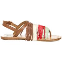 Chaussures Femme Sandales et Nu-pieds Bérénice FRANGES Multicolore