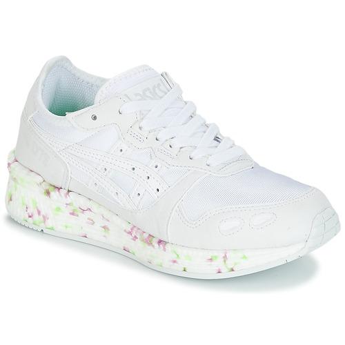 Chaussures Enfant Baskets basses Asics HYPER GEL-LYTE GS Blanc / Rose / Vert