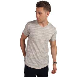 Vêtements Homme T-shirts manches courtes !solid HAVIERO Blanc