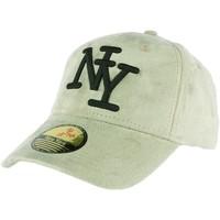 Accessoires textile Casquettes Hip Hop Honour Casquette baseball NY vert opaline effet daim Stally Vert