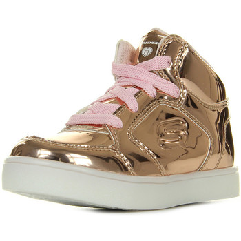 Chaussures Fille Baskets montantes Skechers Lil' Dazzlers Energy Lights rose