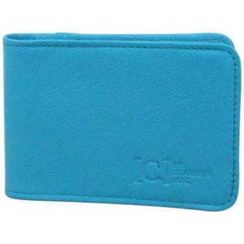 Sacs Femme Porte-monnaie C. By Claudia Luc Petit porte cartes en cuir extra plat  Fabriqué en France LE FOU Bleu