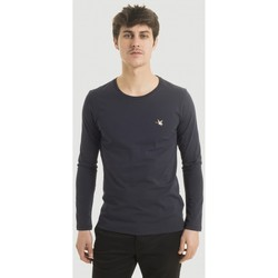 Vêtements Homme T-shirts manches longues Chevignon tee-shirt manches longues straight col rond NAVY