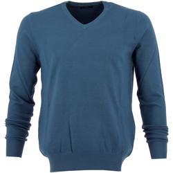 Vêtements Homme Pulls Real Cashmere Pull col V  - IUB108842-BLEUCAN Bleu