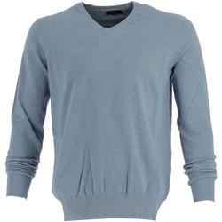 Vêtements Homme Pulls Real Cashmere Pull col V  - IUB108842-BLEUCIEL Bleu