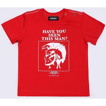 Vêtements Enfant T-shirts manches courtes Diesel TRUEB 00K1R8 00YI9 T-SHIRT junior unisexe RED RED