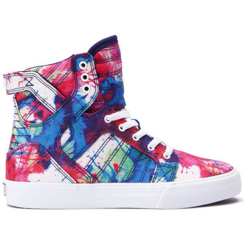 Chaussures Femme Baskets montantes Supra Chaussures  KIDS SKYTOP Paint splatter white Multicolore