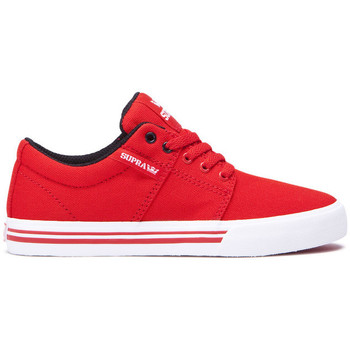 Chaussures Enfant Baskets basses Supra Chaussures  KIDS STACKS II VULC Red white Rouge