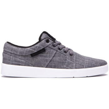 Chaussures Homme Baskets basses Supra Chaussures  INETO Castlerock white Gris