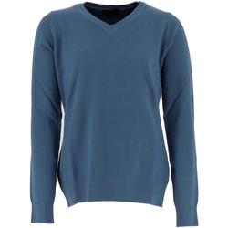Vêtements Femme Pulls Real Cashmere Pull col V  Femme - IDS1085002-BLEU Bleu