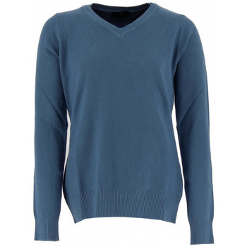 Vêtements Femme Pulls Real Cashmere Pull col V Real Bleu