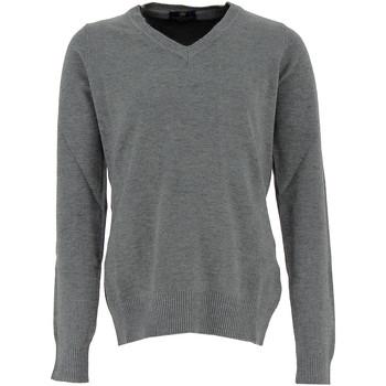Vêtements Femme Pulls Real Cashmere Pull col V  Femme - IDS1085002-GRIS Gris