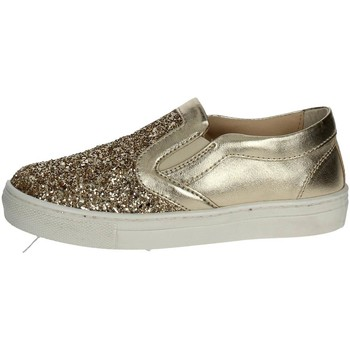 Chaussures Fille Slips on Florens W8562 Slip-on Chaussures Fille Platine Platine