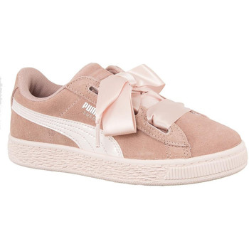 Chaussures Femme Baskets basses Puma baskets mode  junior 365139 suede heart jewel rose rose