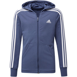 Vêtements Fille Vestes de survêtement adidas Performance Veste à capuche Essentials 3-Stripes Blanc / Blanc