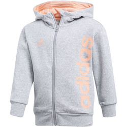 Vêtements Fille Vestes de survêtement adidas Performance Veste à capuche Little Kids Full Zip Gris
