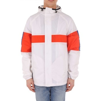 Vêtements Homme Blousons Franklin & Marshall JKMF101ANS18 veste Homme blanc et orange blanc et orange