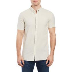 Vêtements Homme Chemises manches courtes Minimum EZRA Ecru